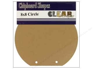 Clear Scraps Album Chip 8x8 Circle