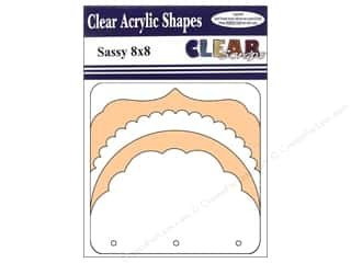 Clear Scraps Clear Album 8 x 8 in. Sassy