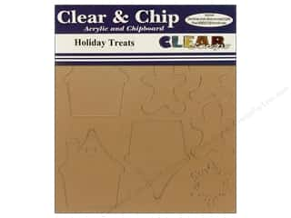 Acrylic Shape Christmas: Clear Scraps Clear N Chip Mix Pack Holiday Treats