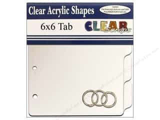Scrapbook / Photo Albums 6 x 6: Clear Scraps Clear Album 6 x 6 in. Tab