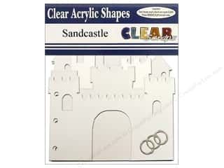 beache $7 - $9: Clear Scraps Clear Album 7 x 9 in. Sandcastle