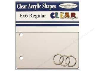 Plastics Clear Scraps Albums: Clear Scraps Clear Album 6 x 6 in. Square Regular
