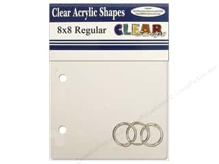 Clear Scraps Acrylic Shape: Clear Scraps Clear Album 8 x 8 in. Square Regular