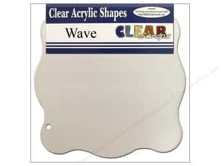 Clear Scraps Album Clear 7x7 Wave