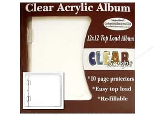 Clear Scraps Album Cast Acrylic 12x12 Regular