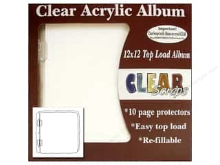 Clear Scraps Acrylic Shape: Clear Scraps Acrylic Top Load Album 12 x 12 in. Deco