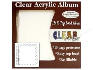 Clear Scraps Album Cast Acrylic 12x12 Scallop