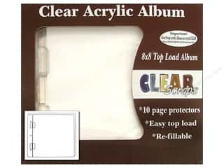 Clear Scraps Album Cast Acrylic 8x8 Regular