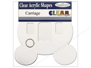 Clear Scraps Album Clear 9x8.5 Carriage