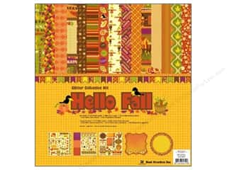 sticker: Best Creation Glitter Coll Kit 12x12 Hello Fall