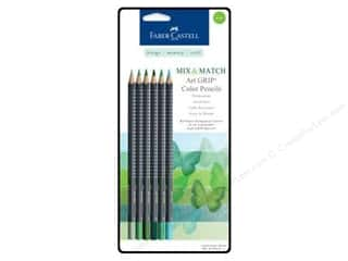 Colored pencils: FaberCastell MM Art Grip Color Pencil Set Green