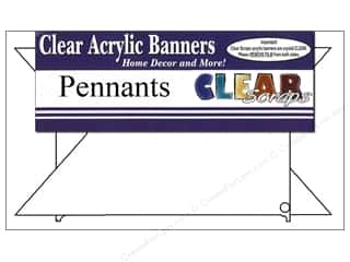Clear Scraps Banner Clear Pennants Lg 7pc