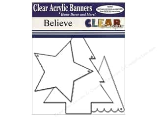 Acrylic Shape Christmas: Clear Scraps Clear Banners 7 pc. Believe