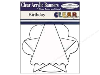 "Clear Scraps 12"": Clear Scraps Clear Banners 7 pc. Birthday"
