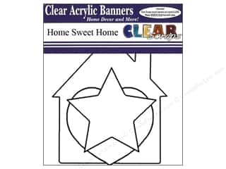 Clear Scraps Banner Clear Home Sweet Home 7pc