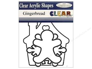 Clear Scraps Banner Clear Gingerbread 7pc