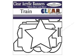 "Clear Scraps 12"": Clear Scraps Clear Banners 7 pc. Train"