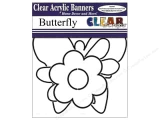 Clear Scraps Banner Clear Butterfly 7pc