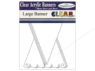 Clear Scraps Acrylic Shape: Clear Scraps Clear Banners 7 pc. Large