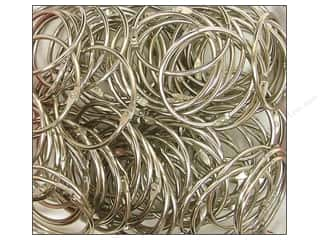 "Clear Scraps Rings Chrome Rings 2"" 100pc"