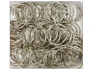 "Clear Scraps Rings Chrome Rings 1.5"" 100pc"