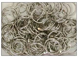 "Clear Scraps Rings Chrome Rings 1"" 100pc"
