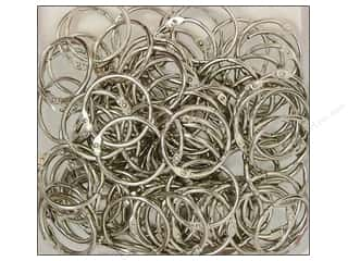 "Clear Scraps Rings Chrome Rings 1.25"" 100pc"
