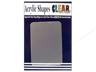 Clear Scraps Shapes Clear ATC Cards 4pc