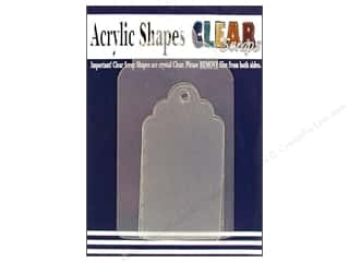 Clear Scraps Shapes Clear Tag Assorted Scallop 4pc