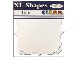 "Clear Scraps Shapes Clear XL Deco 12""x 12"" 2pc"