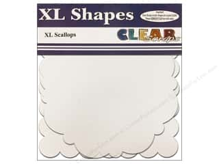 "Clear Scraps Shapes Clear XL Scallop 12""x 12"" 2pc"