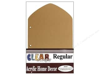Acrylic Shape Clearance Patterns: Clear Scraps Acrylic Trifold Frame 5 x 8 in. Regular