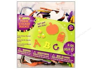 Darice Craft Foam: Darice Foamies Stkr Halloween Bucket Basics 4oz