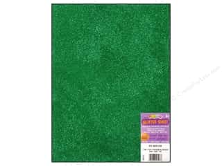Foamies Foam Sheet 9 x 12 in. Glitter Green