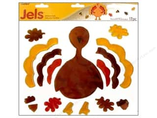Darice Holiday Decor Window Jels Turkey 17pc