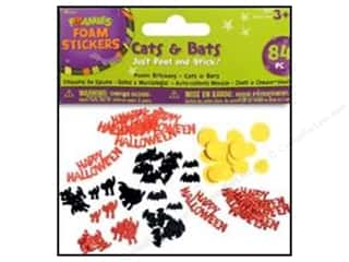 Darice Foamies Stkr Halloween Cats &amp; Bats 84pc