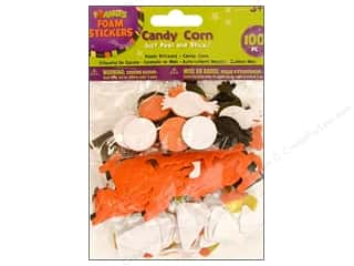Clearance Darice Foamies Sticker: Darice Foamies Stkr Halloween Candy Corn 100pc