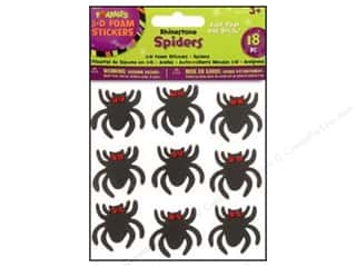 Clearance Darice Foamies Sticker: Darice Foamies Stkr Halloween Spiders 18pc