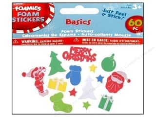 Darice Foamies Sticker Christmas Basics 60pc