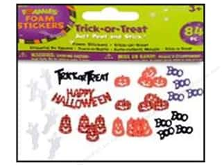 Clearance Darice Foamies Sticker: Darice Foamies Stkr Halloween Trick-or-Treat 84pc