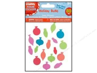 Darice Foamies Sticker Christmas Holiday Bulb 80pc
