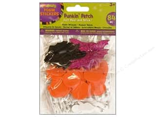 Clearance Darice Foamies Sticker: Darice Foamies Stkr Halloween Punkin&#39; Patch 84pc