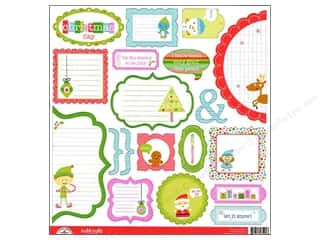 Doodlebug Cute Cuts Santa&#39;s Workshop Die Cut (12 sheets)