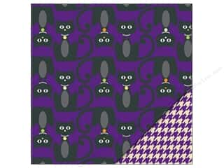 Bazzill Paper 12x12 Black Cat/Purple Houndstooth