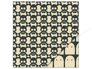 Bazzill Paper 12x12 Poisoned Skulls/Ghost Games