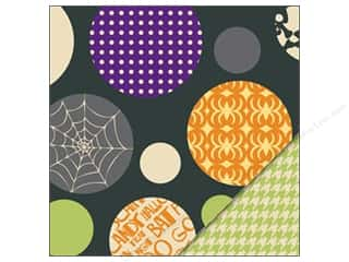 Bazzill Paper 12x12 Halloween Ball/Green Houndstooth