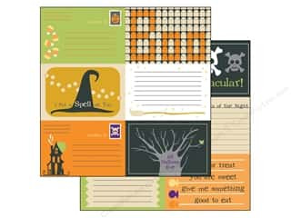 Sugar and Cream Printed Cardstock: Bazzill 12 x 12 in. Paper Lickety Slip Spooky & Kooky Horizontal 25 pc.