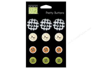 Bazzill Buttons Spooky 12pc
