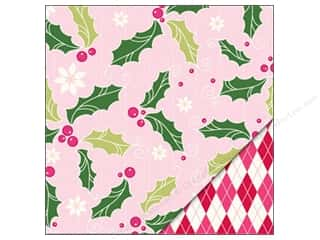 Bazzill Paper 12x12 Holly Berry/Argyle Pink