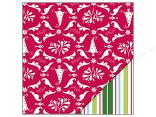 Holiday Sale Printed Cardstock: Bazzill 12 x 12 in. Paper Classic Christmas/Jolly Stripe 25 pc.